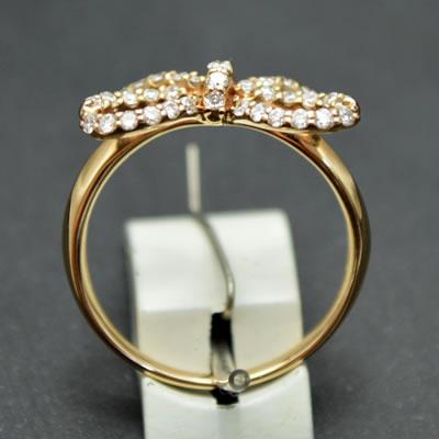 【ジュエリー/ダイヤモンド/リング】K18PGダイヤモンドリング D/0.33カラット