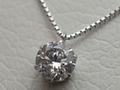 【ジュエリー/ダイヤモンド/ネックレス】PTダイヤモンドペンダントネックレス D/1.049カラット