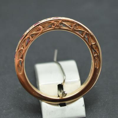 【ジュエリー/ルビー/指輪】K18PGルビーダイヤモンドリング R/0.37カラット D/0.23カラット