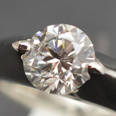 【ジュエリー/ダイヤモンド/指輪】PT ダイヤモンドリング D/1.015カラット
