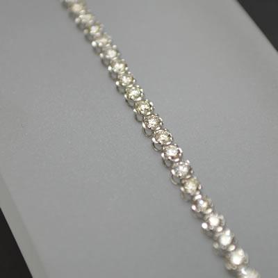 【ジュエリー/ダイヤモンド/ブレスレット】PT ダイヤモンドテニスブレスレット D/3.00カラット