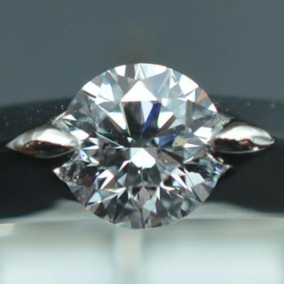 【ジュエリー/ダイヤモンド/指輪】PT ダイヤモンドリング D/0.504カラット