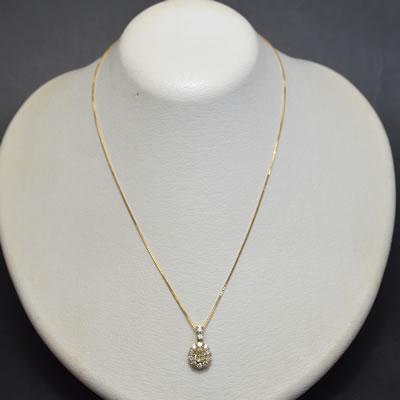 【ジュエリー/ダイヤモンド/ネックレス】K18ダイヤモンドペンダントネックレス D/0.534カラット