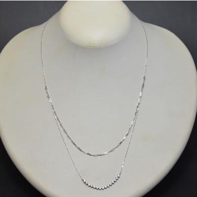 【ジュエリー/ダイヤモンド/ネックレス】PTダイヤモンドペンダントネックレス D/0.28カラット