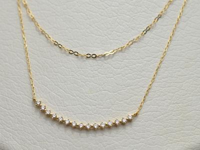 【ジュエリー/ダイヤモンド/ネックレス】K18ダイヤモンドペンダントネックレス D/0.28カラット