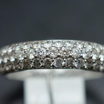 【ジュエリー/ダイヤモンド/指輪】PTダイヤモンドパヴェリング D/1.00カラット
