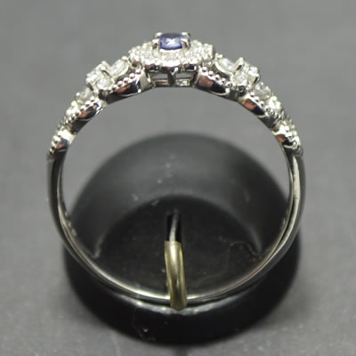【ジュエリー/ベニトアイト/指輪】PT ベニトアイトリング B/0.09カラット D/0.19カラット