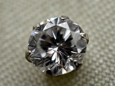 【ジュエリー/ダイヤモンド/ピアス】PT ダイヤモンドピアス D/0.443カラット