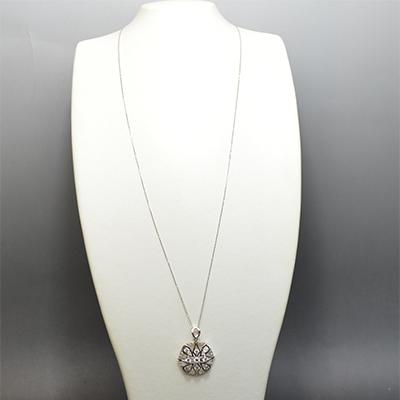 【ジュエリー/ダイヤモンド/ネックレス】PTダイヤモンドペンダントネックレス D/1.50カラット