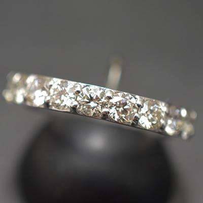 【ジュエリー/ダイヤモンド/指輪】PT ダイヤモンドリング D/1.00カラット