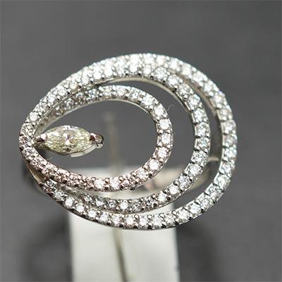 【ジュエリー/ダイヤモンド】PTダイヤモンドリング D/0.83カラット
