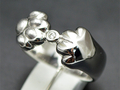 【ジュエリー/ダイヤモンド/指輪】K18WG ダイヤモンドリング D/0.02カラット