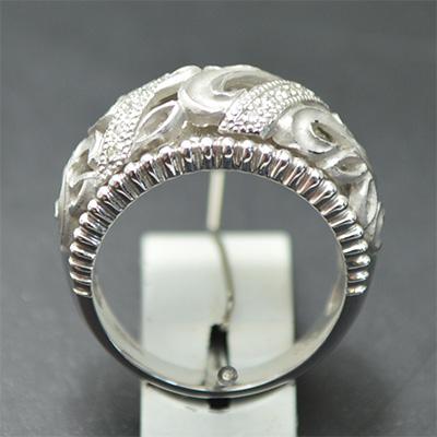 【ジュエリー/ダイヤモンド】K18WGダイヤモンドリング  D/0.09カラット