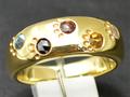 【ジュエリー/ダイヤモンド/ブルートパーズ/指輪】K18WG マルチカラーリング BD/0.13カラット