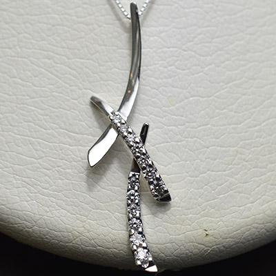 【ジュエリー/ダイヤモンド/ネックレス】PT ダイヤモンドペンダントネックレス D/0.50カラット
