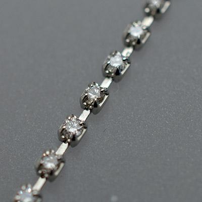 【ジュエリー/ダイヤモンド/ブレスレット】PT ダイヤモンドテニスブレスレット D/1.00カラット