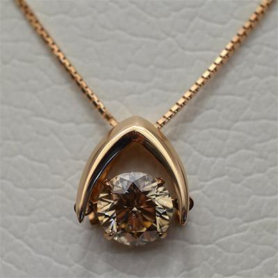 【ジュエリー/ダイヤモンド/ネックレス】K18PG ダイヤモンドペンダントネックレス D/1.013カラット <ダンシングストーン>