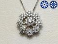 【ジュエリー/ダイヤモンド/ネックレス】ハート&キューピット PT950ダイヤモンドペンダントネックレス D/1.30カラット