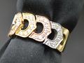 【ジュエリー/ダイヤモンド/指輪】PT950K18PGYGダイヤモンドリング D/0.33カラット