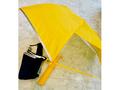 通園・通学用 折りたたみ傘(収納袋付き) イエロー無地/50cm