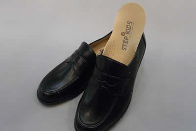やわらかいローファーST1189(足幅細めタイプ)ステップアップキッズ(STEP UP KIDS)人工皮革:靴のキング堂オリジナル通学靴/22.0cm