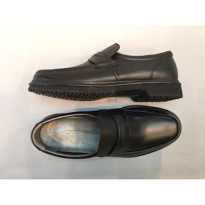 やわらかい男子学生用ローファー通学靴:革タイプ KT2101/23.5cm