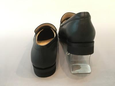 やわらかいローファーST7189(足幅細めタイプ)合成皮革:靴のキング堂オリジナル通学靴 ブラック/22.5cm
