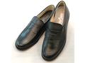マット・ツヤなしローファー ステップアップキッズ(STEP UP KIDS)ST3289革素材:靴のキング堂オリジナルローファー通学靴/ブラック 22.5cm