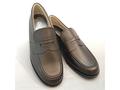 マット・ツヤなしローファー ステップアップキッズ(STEP UP KIDS)ST3289革素材:靴のキング堂オリジナルローファー通学靴/ダークブラウン 22.5cm