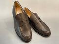 ステップアップキッズ(STEP UP KIDS) ダークブラウン 柔らかい、痛くない、履きやすい、ローファー通学靴 人工皮革 22.5cm