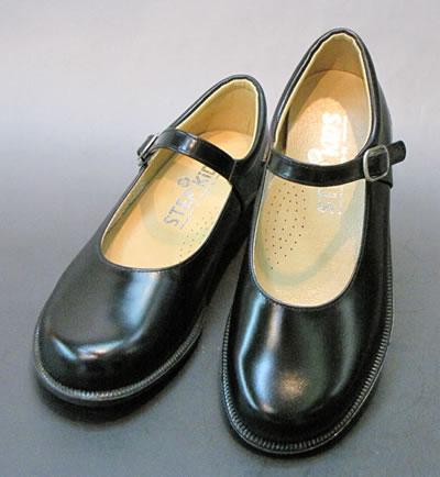 通学靴:ステップアップキッズ(STEP UP KIDS) 革タイプ ST3002:ワンストラップタイプ(靴のキング堂オリジナル)/17.0cm