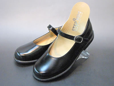 通学靴:ステップアップキッズ(STEP UP KIDS) 革タイプ ST3002:ワンストラップタイプ(靴のキング堂オリジナル)/18.0cm