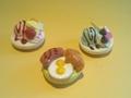 【雑貨】マグネット お皿の上の逸品! /朝食プレート型