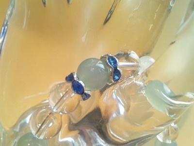 【アクセサリー/雑貨/ブレスレット】Luabrancaブレスレット ブルーカルセドニー×ローズクォーツ×水晶
