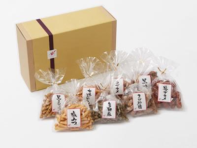 【ギフト】かりんとう 小袋8袋詰合せ『HAPPY 8』 各50g×8袋