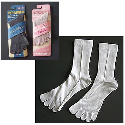 【メンズ/5本指靴下】人間を考える足である フリーサイズ(24〜27cm)シルクタイプ/ブラック