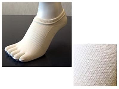 【レディース/5本指靴下】SNICK−スニック− 無地 23〜25cm/スノーホワイト