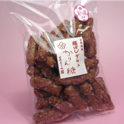 【青梅 美よしの園オリジナル】 梅ぼしザラメかりん糖 170g
