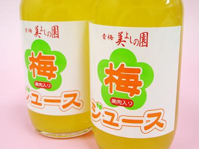 ★ 10%OFF ★【青梅 美よしの園オリジナル】果肉入り梅ジュース(ストレートタイプ) 200ml