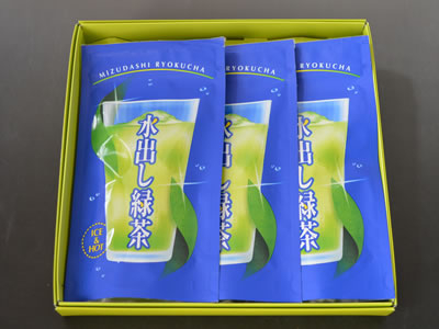 【ギフト】茶師十段之茶 オリジナルティーバッグ 水出し緑茶×3(箱入り)