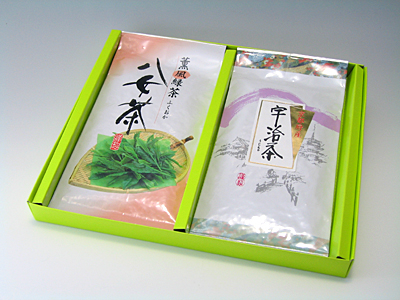 【ギフト】「宇治茶・八女茶」詰め合わせ<箱入り>