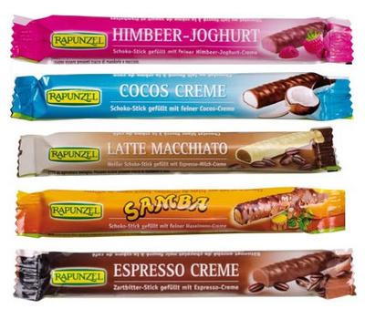【オーガニック/フェアトレード/チョコレート】Rapunzel チョコスティック ラズベリーヨーグルト