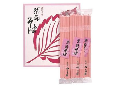 【練りこみ蕎麦】紫蘇そば(110g×10袋)×10箱入