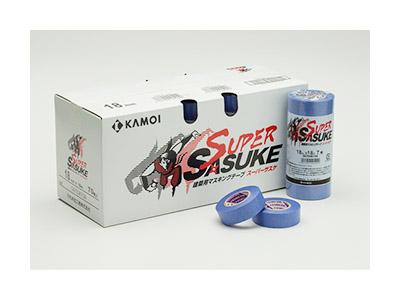 【養生品】マスキングテープ SASUKEサスケ(建築塗装用) 幅12mm×長さ18m 10パック 100巻(ケース)