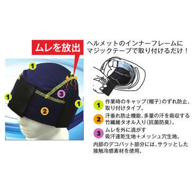 【熱中症対策/頭用冷却用品】ヘルメットインナー さわやか太一くん