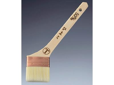 【塗装/刷毛(はけ)】ひよこ 銅巻 筋違/白毛 25号 60mm
