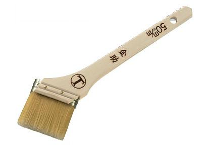 【塗装/刷毛(はけ)】金助 金具型 筋違/白毛 30ミリ