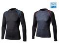 【熱中症対策/冷感衣類】BTアウトラスト ロングスリーブ クルーネックシャツ ブラック×ブルー/M