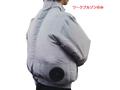 【熱中症対策/ファン付作業服】S-AIRワークブルゾン8810(単品) シルバーグレー/S