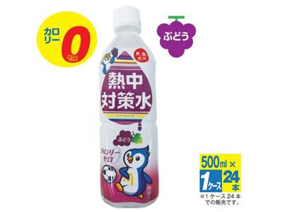 【熱中症対策/飴類・給水飲料】熱中対策水 ブドウ味 500ml×24本